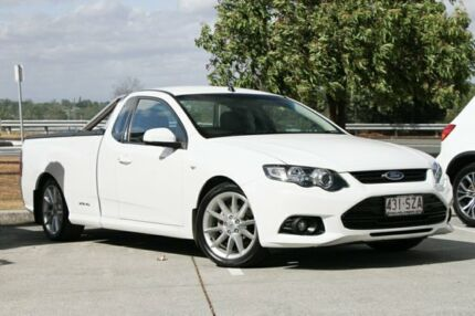 2012 Ford Falcon FG MkII XR6 Ute Super Cab White 6 Speed Sports Automatic Utility Springwood Logan Area Preview