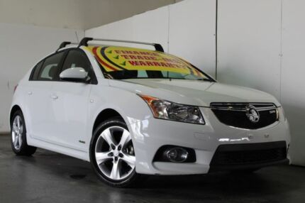 2012 Holden Cruze JH MY12 SRi White 6 Speed Automatic Hatchback Underwood Logan Area Preview