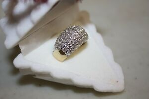 Genuine Diamond Ring 925 silver & gold size 7 London Ontario image 2