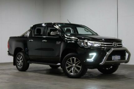 2016 Toyota Hilux GUN126R SR5 Double Cab Black 6 Speed Sports Automatic Utility Welshpool Canning Area Preview