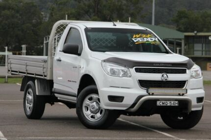 2013 Holden Colorado RG MY13 DX White 5 Speed Manual Cab Chassis