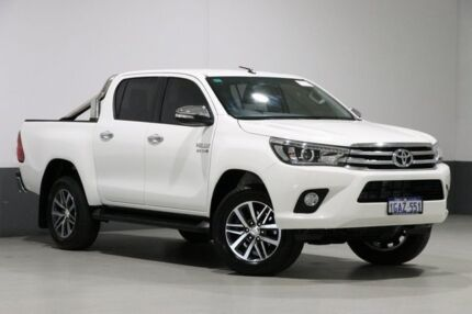 2015 Toyota Hilux GUN126R SR5 (4x4) White 6 Speed Manual Dual Cab Utility Bentley Canning Area Preview