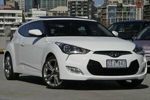 2012 Hyundai Veloster FS Coupe White 6 Speed Manual Hatchback North Melbourne Melbourne City Preview