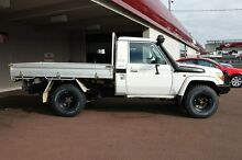 2009 Toyota Landcruiser VDJ79R GXL White 5 Speed Manual Cab Chassis Northbridge Perth City Preview