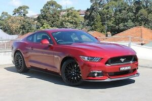 2016 Ford Mustang FM MY17 GT SelectShift Red 6 Speed Sports Automatic Fastback Wolli Creek Rockdale Area Preview