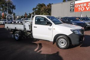 2014 Toyota Hilux TGN16R MY14 Workmate White 5 Speed Manual Cab Chassis Wilson Canning Area Preview