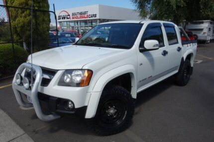2009 Holden Colorado RC MY09 LX Crew Cab White 4 Speed Automatic Utility Seaford Frankston Area Preview