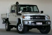 2013 Toyota Landcruiser VDJ79R MY12 Update GXL (4x4) White 5 Speed Manual Double C/Chas Coopers Plains Brisbane South West Preview