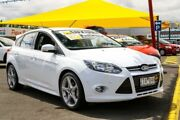2013 Ford Focus LW MKII Titanium PwrShift White 6 Speed Sports Automatic Dual Clutch Hatchback Ringwood East Maroondah Area Preview