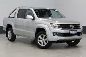 2014 Volkswagen Amarok 2H MY13 TDI420 Highline (4x4) Silver 8 Speed Automatic Dual Cab Utility Bentley Canning Area Preview
