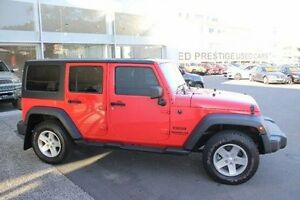 2013 Jeep Wrangler JK MY2013 Unlimited Sport Red 6 Speed Manual Softtop Mount Gravatt Brisbane South East Preview