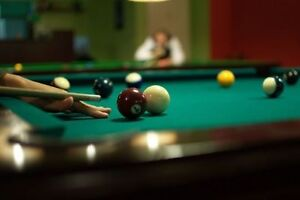 POOL TABLE Set Up and Reclothing