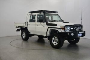 2012 Toyota Landcruiser VDJ79R MY13 GXL Double Cab White 5 Speed Manual Cab Chassis