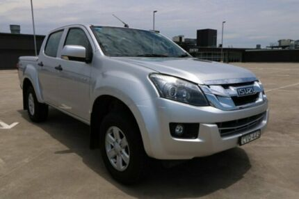 2014 Isuzu D-MAX MY15 LS-M Crew Cab Silver 5 Speed Sports Automatic Utility