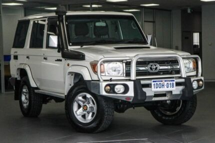 2010 Toyota Landcruiser VDJ76R MY10 GXL White 5 Speed Manual Wagon Bellevue Swan Area Preview