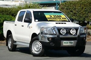 2014 Toyota Hilux KUN26R MY14 SR Double Cab Glacier White 5 Speed Automatic Utility Acacia Ridge Brisbane South West Preview
