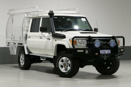 2013 Toyota Landcruiser VDJ79R MY12 Update GXL (4x4) White 5 Speed Manual Double Cab Chassis Bentley Canning Area Preview
