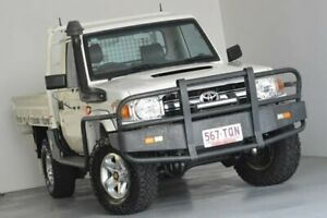 2013 Toyota Landcruiser VDJ79R MY13 GXL White 5 Speed Manual Cab Chassis Kedron Brisbane North East Preview