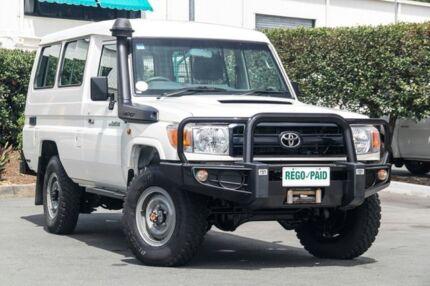 2014 Toyota Landcruiser VDJ78R Workmate Troopcarrier White 5 Speed Manual Wagon