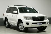2015 Toyota Landcruiser VDJ200R MY13 GXL (4x4) White 6 Speed Automatic Wagon Bentley Canning Area Preview