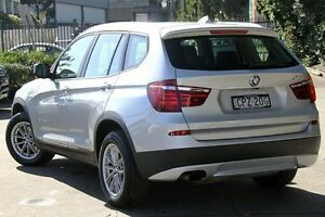 2013 BMW X3 F25 xDrive 20I Silver 8 Speed Automatic Wagon Petersham Marrickville Area Preview