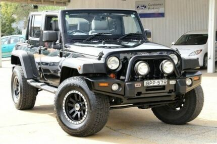 2010 Jeep Wrangler JK MY2010 Unlimited Sport Black 6 Speed Manual Softtop Greenacre Bankstown Area Preview