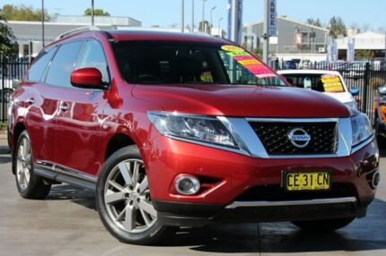 2015 Nissan Pathfinder R52 MY15 Ti X-tronic 4WD Burgundy 1 Speed Constant Variable Wagon