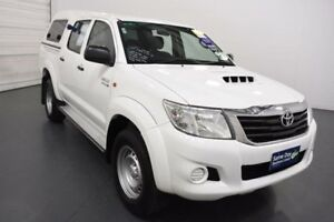 2013 Toyota Hilux KUN26R MY12 SR (4x4) Glacier White 4 Speed Automatic Moorabbin Kingston Area Preview