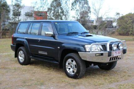 2008 Nissan Patrol GU 6 MY08 ST Blue 4 Speed Automatic Wagon