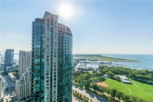 Large Modern 1 bed condo, with parking, Toronto Downtown Lake