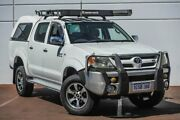 2008 Toyota Hilux GGN25R MY08 SR5 White 5 Speed Automatic Utility Maddington Gosnells Area Preview