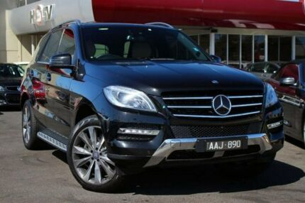 2013 Mercedes-Benz ML350 W166 BlueTEC 7G-Tronic + Black 7 Speed Sports Automatic Wagon