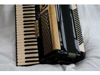 A Scandalli 120 Bass, 4 voice Musette tuned accordion - full size