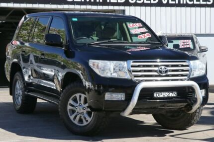 2008 Toyota Landcruiser VDJ200R Sahara Black 6 Speed Sports Automatic Wagon