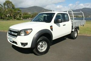 2009 Ford Ranger PK XL Super Cab Hi-Rider White 5 Speed Manual Cab Chassis Derwent Park Glenorchy Area Preview