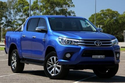 2015 Toyota Hilux GUN126R SR5 Extra Cab Blue 6 Speed Manual Utility