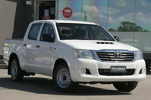 2012 Toyota Hilux KUN16R MY12 SR White 5 Speed Manual Dual Cab Pick-up Old Guildford Fairfield Area Preview