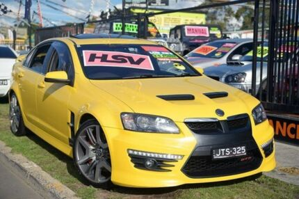 2010 Holden Special Vehicles GTS E3 Yellow 6 Speed Auto Active Sequential Sedan Homebush West Strathfield Area Preview