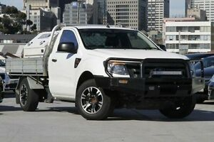 2012 Ford Ranger PX XL 4x2 White 5 Speed Manual Cab Chassis North Melbourne Melbourne City Preview