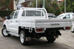 2012 Toyota Hilux KUN26R MY12 SR (4x4) White 5 Speed Manual Dual Cab Chassis Mosman Mosman Area Preview