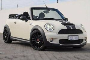 2009 Mini Cabrio R57 MY09 Cooper S Steptronic White 6 Speed Sports Automatic Convertible Wangara Wanneroo Area Preview