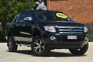 2013 Ford Ranger PX XLT Double Cab Black 6 Speed Sports Automatic Utility Toowoomba Toowoomba City Preview