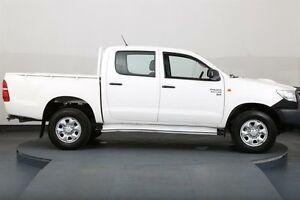 2012 Toyota Hilux KUN26R MY12 SR (4x4) White 5 Speed Manual Dual Cab Pick-up Smithfield Parramatta Area Preview