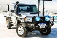 2008 Toyota Landcruiser VDJ79R GXL Silver 5 Speed Manual Cab Chassis Osborne Park Stirling Area Preview