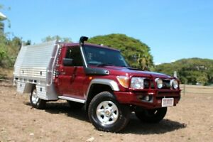 2012 Toyota Landcruiser VDJ79R MY13 GXL Merlot Red 5 Speed Manual Cab Chassis The Gardens Darwin City Preview