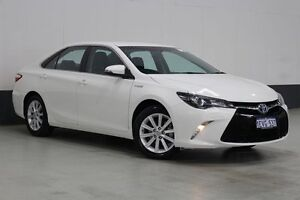 2015 Toyota Camry AVV50R MY15 Atara S Hybrid White Continuous Variable Sedan Bentley Canning Area Preview