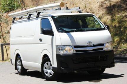 2013 Toyota Hiace KDH201R MY12 LWB White 5 Speed Manual Van Hawthorn Mitcham Area Preview