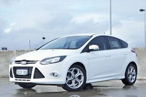 2012 Ford Focus LW MKII Sport White 5 Speed Manual Hatchback Midland Swan Area Preview