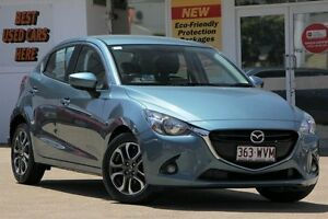 2014 Mazda 2 DJ2HA6 Genki SKYACTIV-MT Blue 6 Speed Manual Hatchback Woolloongabba Brisbane South West Preview