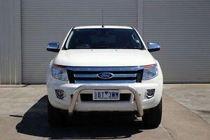2014 Ford Ranger PX XLT Double Cab White 6 Speed Sports Automatic Utility Seaford Frankston Area Preview